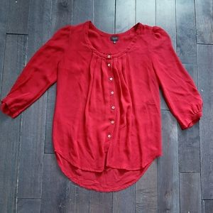 Aritzia T. Babaton Silk Button Up Blouse Size XS